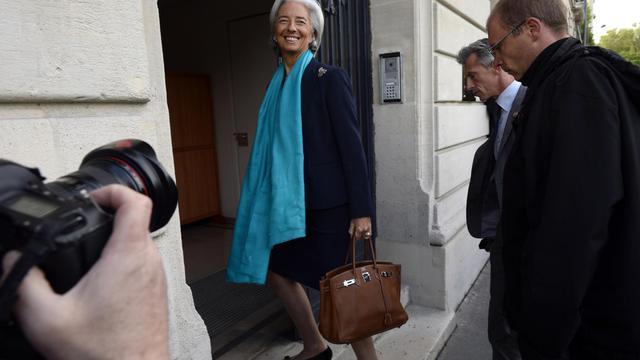 La directrice du FMI, Christine Lagarde, arrive pour son audition à la Cour de justice de la République, le 23 mai 2013 à Paris [Lionel Bonaventure / AFP]
