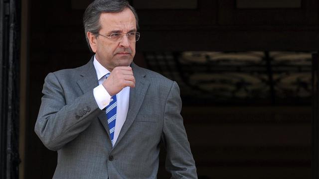 Le Premier ministre grec Antonis Samaras, le 23 mai 2013 à Athènes [Louisa Gouliamaki / AFP]