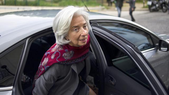 La directrice générale du FMI Christine Lagarde arrive pour sa deuxième journée d'audition à la CJR le 24 mai 2013 à Paris [Fred Dufour / AFP]