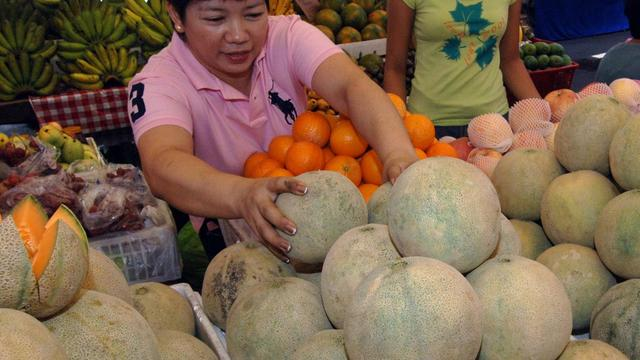 Des melons cataloups, à Manille aux Philippines, le 20 avril 2006 [Joel Nito / AFP/Archives]