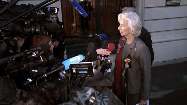 La directrice générale du FMI Christine Lagarde sort de sa deuxième journée d'audition à la CJR, le 24 mai 2013 à Paris [Jacques Demarthon / AFP]