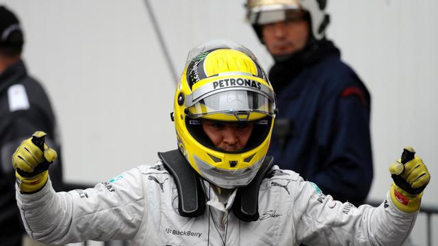 Le pilote allemand Nico Rosberg (Mercedes) après sa pole position au GP de Monaco de F1, le 25 mai 2013 [Tom Gandolfini / AFP]