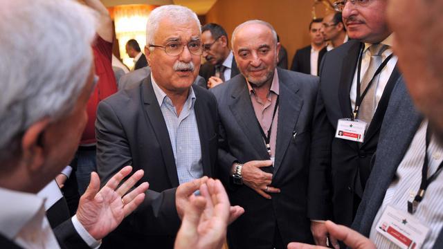 le chef par intérim de l'opposition syrienne, George Sabra, le 25 mai 2013 à Istanbul [Ozan Kose / AFP]