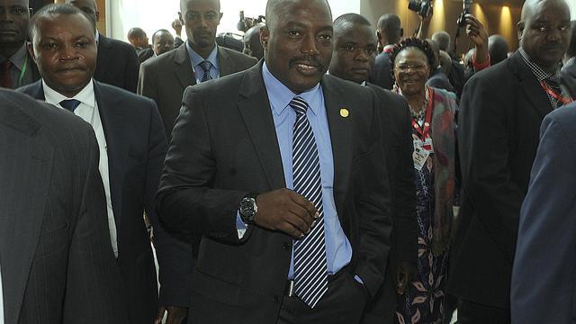 Le président de RDC Joseph Kabila le 26 mai 2013 à Addis Abeba [Simon Maina / AFP]