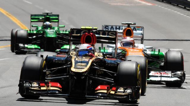 La Lotus de Romain Grosjean lors du Grand Prix de Monaco, le 26 mai 2013 [Tom Gandolfini / AFP]