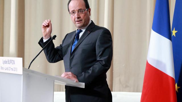 Le président François Hollande, le 27 mai 2013 à Paris [Pierre Verdy / AFP]