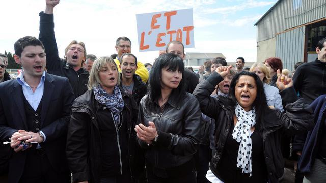 Manifestation des salariés de Spanghero à Castelnaudary, dans le sud-est de la France, le 28 mai 2013 [Eric Cabanis / AFP]