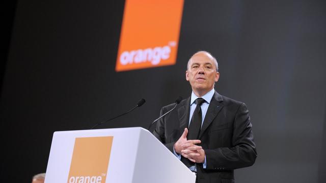 Le PDG d'Orange, Stéphane Richard, lors de l'Assemblée générale du groupe, le 28 mai 2013 à Paris [Eric Piermont / AFP]
