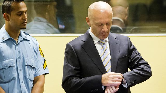 L'ancien président du gouvernement des Croates de Bosnie, Jadranko Prlic devant le TPIY, à La Haye le 29 mai 2013 [Jiri Buller / Pool/AFP]