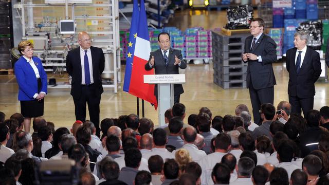 Le président François Hollande, le 29 mai 2013 à Rodez [Eric Cabanis / AFP]