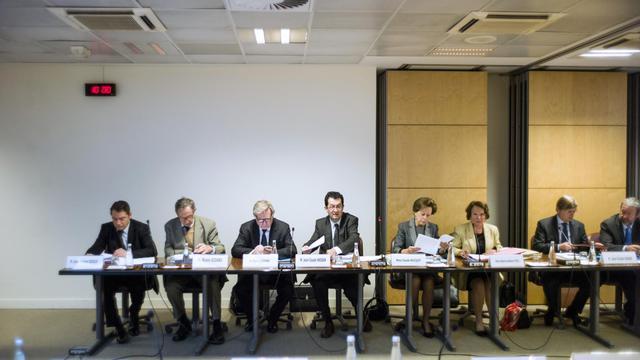 Le collège de l'Autorité des marchés financiers (AFM),  le 31 mai 2013 à Paris [Fred Dufour / AFP]
