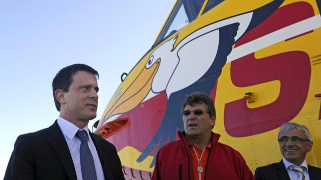 Le ministre de l'Intérieur Manuel Valls en déplacement le 31 mai 2013 à Marignane [Boris Horvat / AFP]