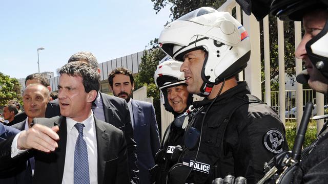 Le ministre de l'Intérieur Manuel Valls à Marseille, le 31 mai 2013 [Boris Horvat / AFP]