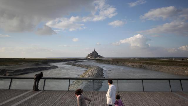 Vue du Mont Saint-Michel, le 27 avril 2013 [Charly Triballeau / AFP/Archives]