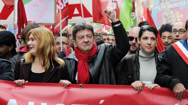 Jean-Luc Mélenchon manifeste à Toulouse le 1er juin 2013 [Pascal Pavani / AFP]