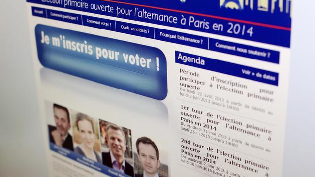 Page du site de l'UMP appellant à voter à la primaire pour les municipales à Paris, le 1er juin 2013 [Thomas Samson / AFP]