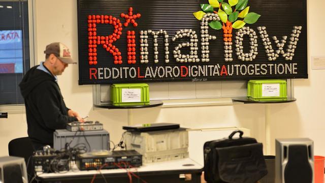 Rimaflow, le nouveau nom de la société occupée par ses anciens employés, près de Milan, le 16 mai 2013 [Giuseppe Cacace / AFP]