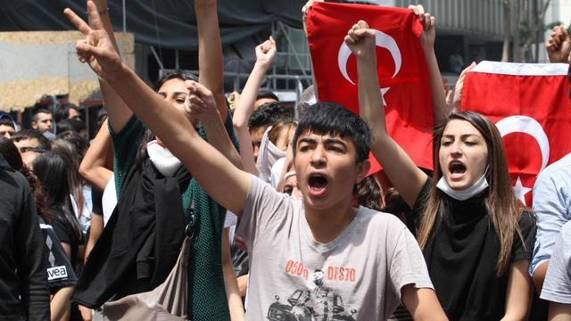 Des manifestants turcs à Ankara le 3 juin 2013 [Adem Altan / AFP]