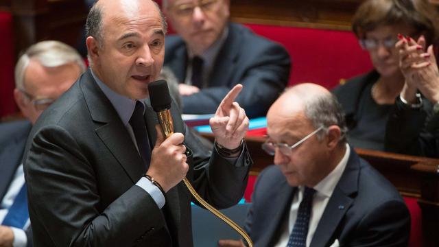 Le ministre de l'Economie, Pierre Moscovici, s'exprime le 4 juin 2013 à l'Assemblée nationale à Paris [Bertrand Langlois / AFP]