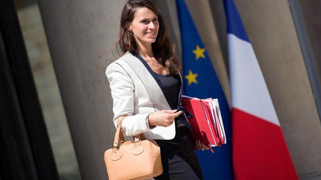 La ministre de la Culture, Aurélie Filippetti, quittant l'Elysée, le 5 juin 2013 [Lionel Bonaventure / AFP/Archives]