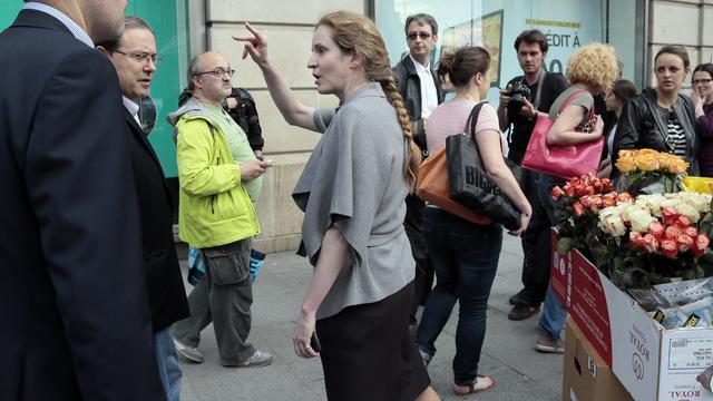 La candidate UMP à la mairie de Paris, Nathalie Kosciusko-Morizet, le 6 juin 2013 à Paris [Jacques Demarthon / AFP]