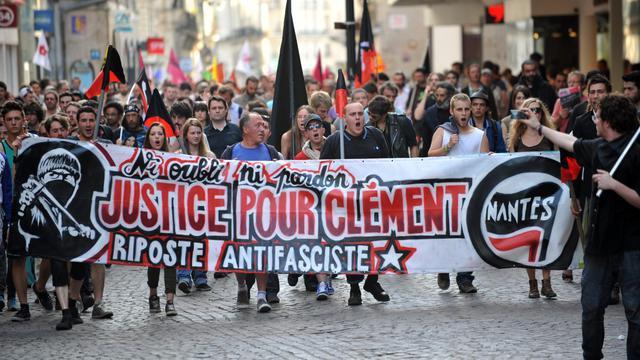Des manifestants rendent hommage à Clémenty Méric, le 6 juin 2013 à Nantes [Frank Perry / AFP]