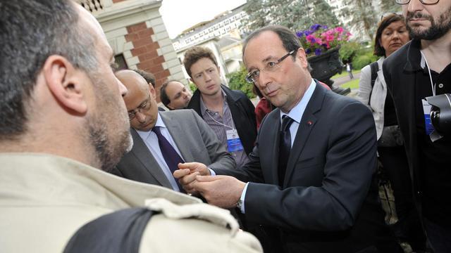 Le président François Hollande, le 9 juin 2013 à Tulle [Thierry Zoccolan / AFP]