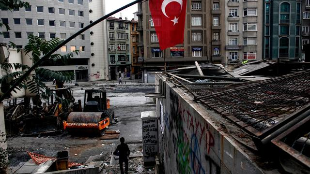 La place  Taksim le 12 juin 2013 à Istanbul [Angelos Tzortzinis / AFP]
