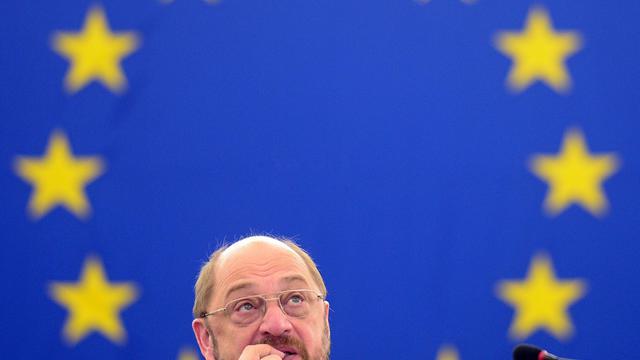 Le président de l'UE Martin Schulz participe à un débat, le 12 juin 2013 au Parlement européen à Strasbourg [Patrick Hertzog / AFP]