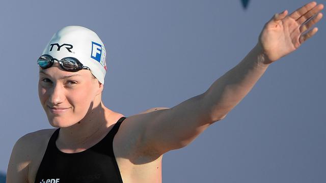 La nageuse française Camille Muffat, le 14 juin 2013 au Foro Italico de Rome à l'occasion de la réunion des Sept Collines [Andreas Solaro / AFP]
