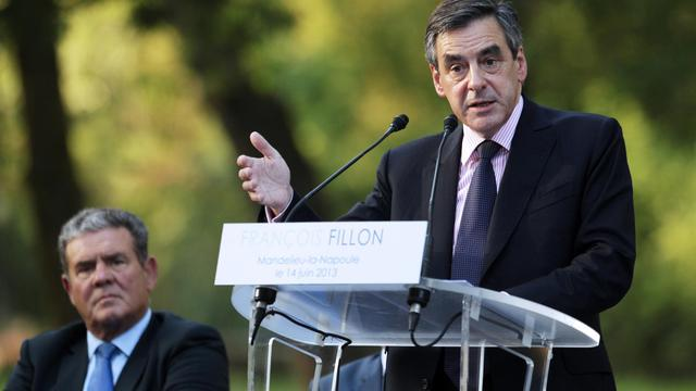 François Fillon en meeting, le 14 juin 2013 à Mandelieu-la-Napoule [Jean-Christophe Magnenet / AFP]