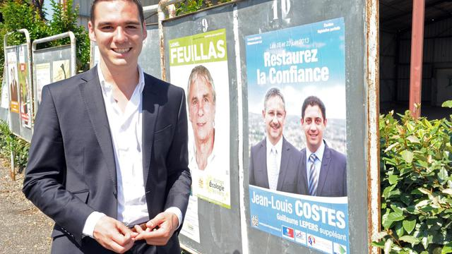 Etienne Bousquet-Cassagne, candidat FN au second tour de la législative partielle dans le Lot-et-Garonne, le 16 juin 2013 à Villeneuve-sur-Lot [Mehdi Fedouach / AFP]