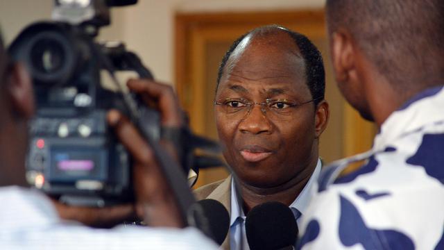 Djibrill Bassolé, chef de la diplomatie du Burkina Faso, le 16 juin 2013 à Ouagadougou [Ahmed Ouoba / AFP]