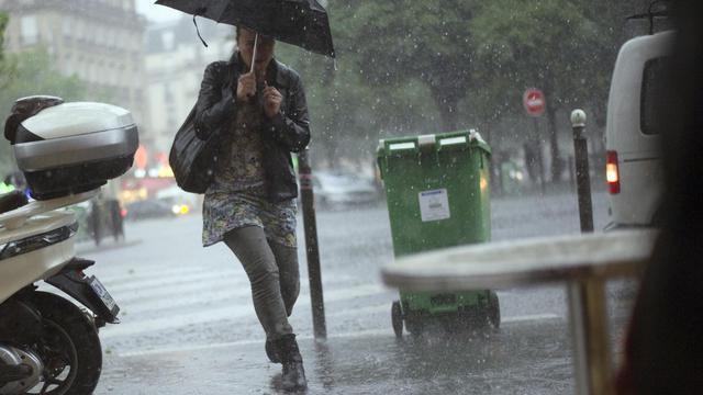 De violents orages se sont abattus le 17 juin 2013 sur l'Ile-de-France [Fred Dufour / AFP]