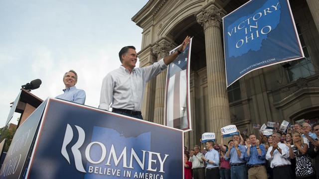 Le candidat républicain à la Maison Blanche Mitt Romney.