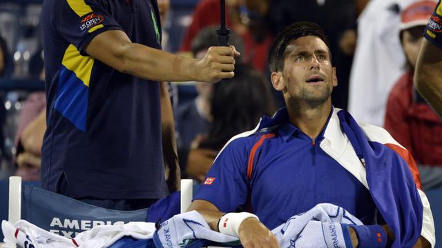 Le Serbe Novak Djokovic (N.2) s'est qualifié mercredi pour les quarts de finale de l'US Open après l'abandon du Suisse Stanislas Wawrinka (N.18), qui était alors mené 6-4, 6-1, 3-1.[AFP]