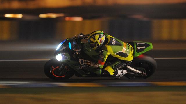La Kawasaki N.11, pilotée par les Français Julien Da Costa, Grégory Leblanc et Freddy Foray, a remporté dimanche la 35e édition des 24 Heures du Mans. [AFP]