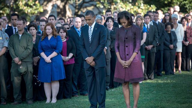 Une minute de silence a été observée mardi matin à New York, pour marquer le 11e anniversaire des attentats du 11-Septembre. [AFP]