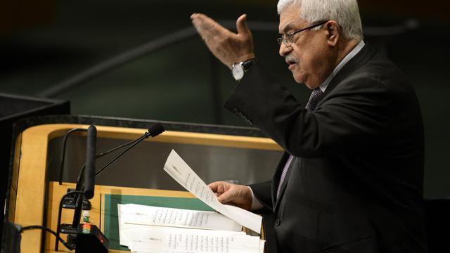 Mahmoud Abbas le 27 septembre 2012 devant l'Assemblée générale de l'ONU à New York [Timothy A. Clary / AFP]