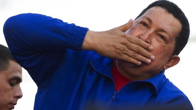 Le président vénézuélien Hugi Chavez lors d'un meeting de campagne à Monagas, le 28 septembre 2012 [Juan Barreto / AFP]
