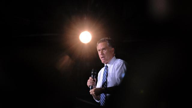 Le candidat républicain à la présidence américaine Mitt Romney, le 1er octobre 2012 à Denver [Jewel Samad / AFP]