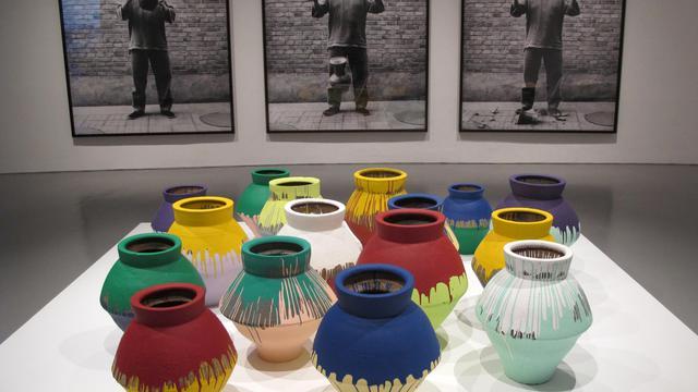 Des oeuvres de l'artiste chinois dissident Ai Weiwei présentées au musée des sculptures Hirshhorn de Washington. [Robert Macpherson / AFP]