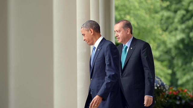 Barack Obama et le Premier ministre turc Recep Tayyip Erdogan, le 16 mai 2013 à la Maison blanche à Washington DC [Mandel Ngan / AFP]