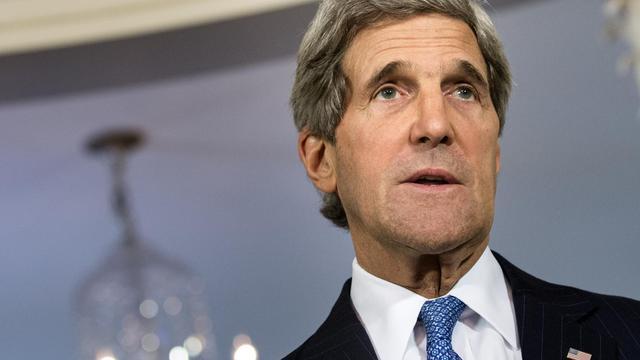 Le secrétaire d'Etat américain John Kerry, le 17 mai 2013 à Washington [Brendan Smialowski / AFP]