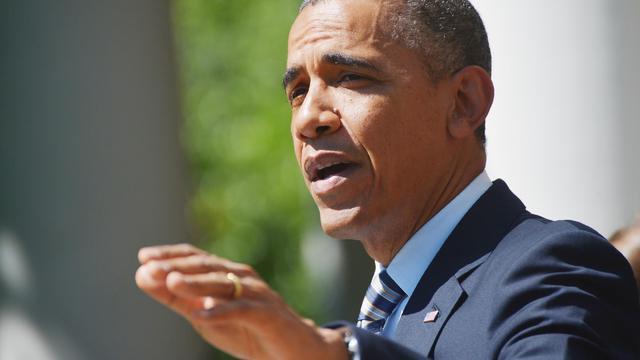 Le président Barack Obama s'exprime dans le jardin de la Maison Blanche le 31 mai 2013 [Mandel Ngan / AFP]
