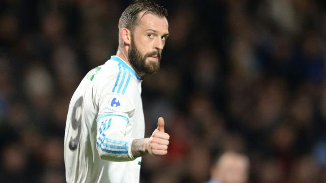 L'attaquant de Marseille Steven Fletcher, auteur du scecond but face aux amateurs de Trélissac en Coupe de France, à Chaban-Delmas, le 11 février 2016    [NICOLAS TUCAT / AFP]