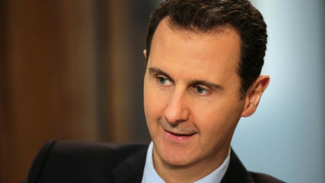 Le président syrien Bachar al-Assad, le 11 février 2016 à Damas lors d'une interview exclusive avec l'AFP [JOSEPH EID / AFP]