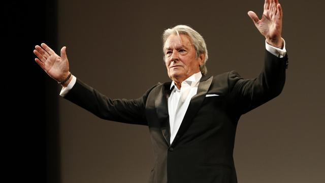 """Alain Delon, le 25 mai 2013 au festival de Cannes, présente la nouvelle copie restaurée de """"Plein Soleil""""  [Valery Hache / AFP/Archives]"""