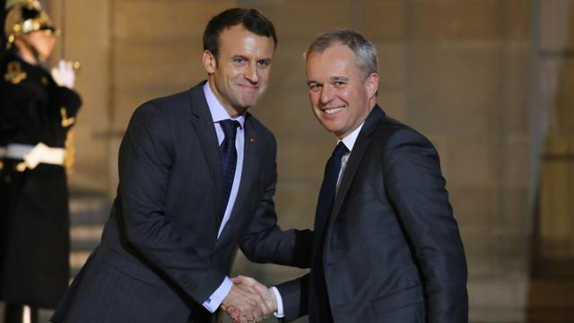 François de Rugy et Emmanuel Macron à l'Elysée, le 20 novembre 2017 [LUDOVIC MARIN / AFP/Archives]