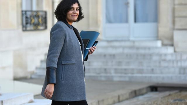 La ministre du Travail Myriam El Khomri le 9 décembre 2015 à la sortie de l'Elysée à Paris [STEPHANE DE SAKUTIN / AFP/Archives]
